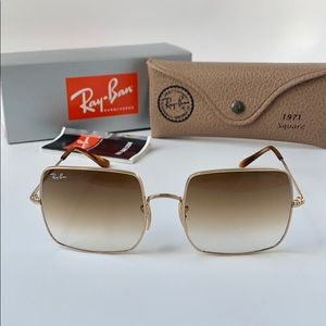 Rayban Sunglasses RB1971 914751 Gold/Clear Brown
